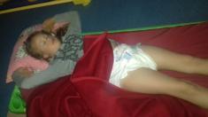 Výlet Sedlice, spaní ve škole